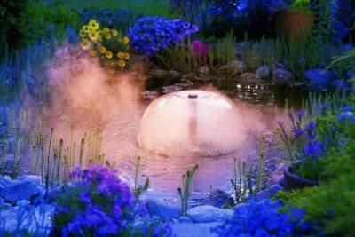 Декоративный водоем с фонтаном