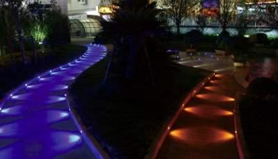 Подсветка садовых дорожек