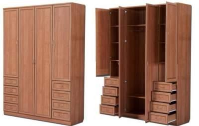 Распашной шкаф с выдвижными ящиками